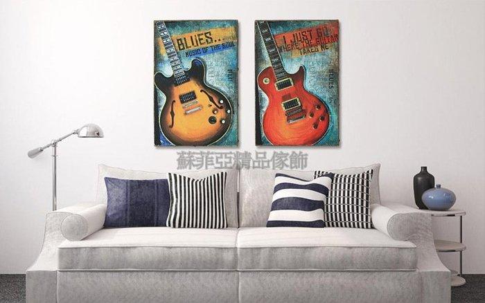 ~蘇菲亞精品傢飾~美式復古吉他版畫/特價促銷