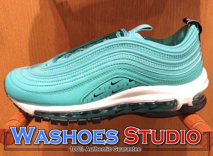 Washoes NIKE W AIR MAX 97 青綠 湖水綠 AR7621-300 小Logo 小勾 女鞋 慢跑鞋