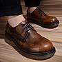 時尚起義 英倫時尚真皮內增高馬丁鞋 韓國男神復古大頭皮鞋  C179