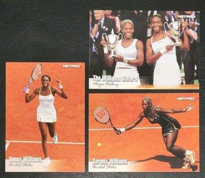 (網球)2003 Netpro 大小威廉斯 Venus、Serena Williams 新人卡共3張