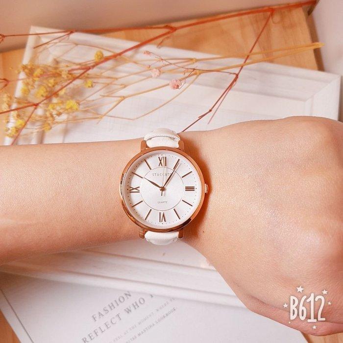 韓國❤️STACCATO 氣質款 羅馬 數字 金屬框 皮質 造型錶 手錶【Verina's韓系美飾】