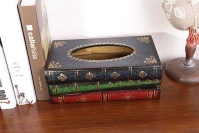 面紙盒/衛生紙盒/書本造型面紙盒/歐式/復古書本/民宿/居家/餐廳/布置/送禮 ♡幸福底家♡