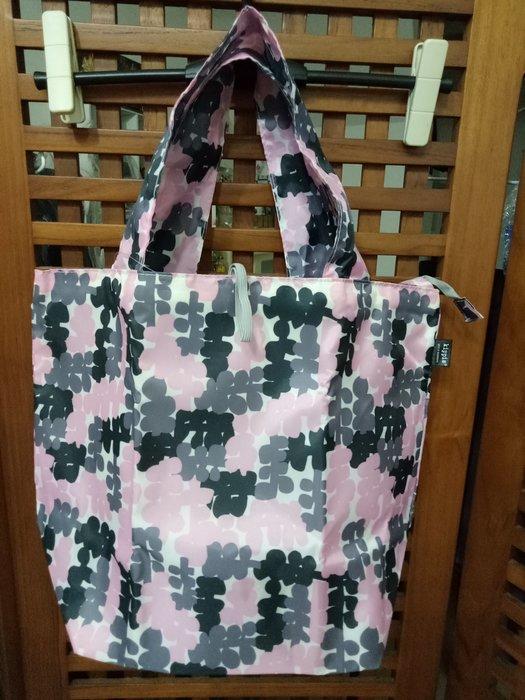 天使熊雜貨小舖~日本帶回Kippis拉鍊購物袋 摺疊包 超輕巧環保袋 手提袋  全新現貨