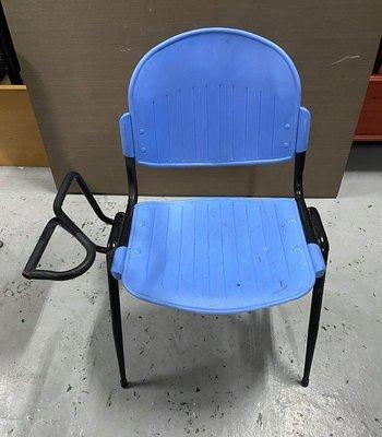 台中二手家具買賣 推薦 西屯樂居 F0406BJJJ 藍色課桌椅 補習班桌椅 /學生桌椅/ 兒童桌椅 大學椅 排椅