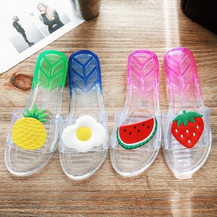 拖鞋女浴室防滑洗澡家居家夏天家用室內塑料軟底夏季可愛水晶涼拖