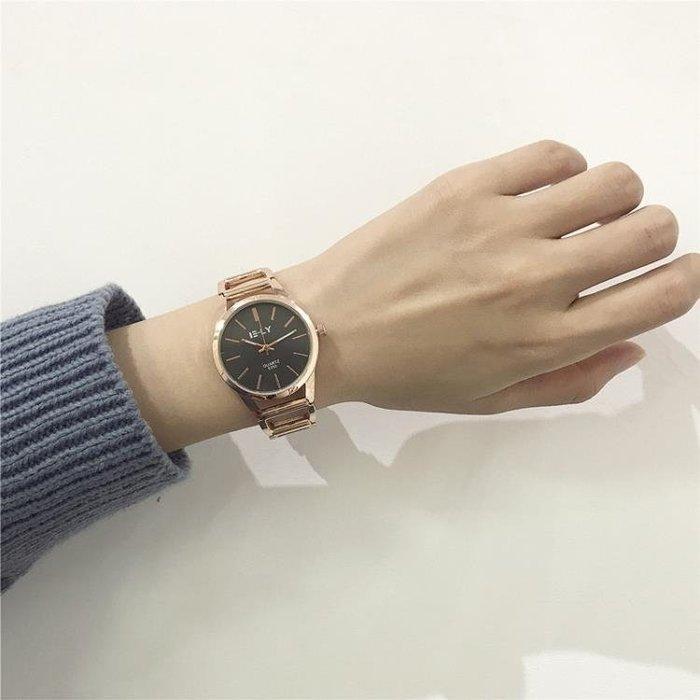【瘋狂夏折扣】別樣手錶女學生韓版簡約潮流ulzzang時尚金屬鏤空鋼帶手錬式女錶