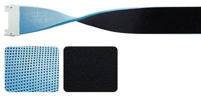 藍鯨高爾夫    Bellez 寬版耀眼雙色皮帶 #13220104,藍/黑(不含皮帶扣環)