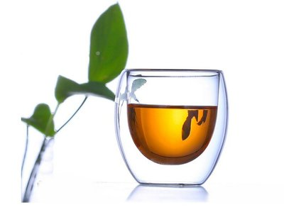 (玫瑰Rose984019賣場)隔熱防燙~雙層玻璃杯80cc~耐熱150度/隔熱杯/品茗杯/透明小茶杯/喝茶杯