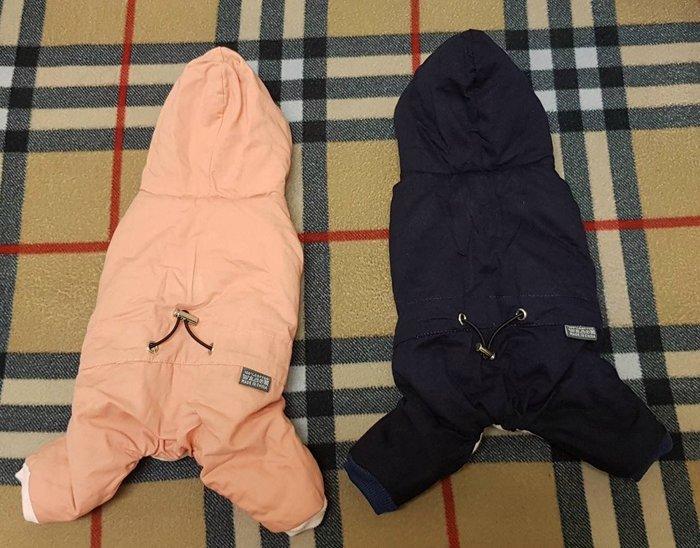 韓版~連帽厚款舖棉寵物衣服僅試穿/下過水/9成新2件一起帶1000元。。