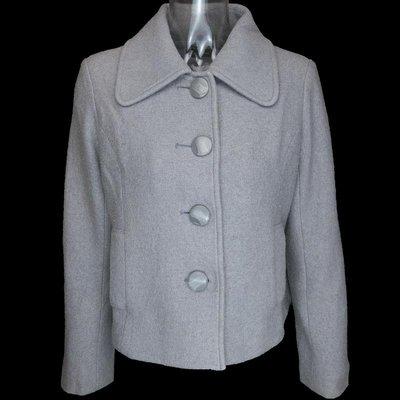 日本品牌Riviere du village 灰色羊毛蝴蝶結長袖外套 W-N-C17