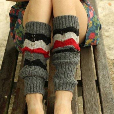 秋冬新款民族風羊絨襪套韓國堆堆襪日系秋冬靴套腿套滿38