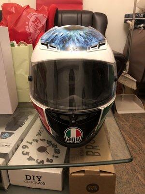 自售二手正Rossi大眼球AGV GP-TECH便宜拋售