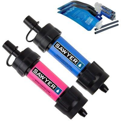 【戶外便利屋】Sawyer MINI Water Filter (SP2102) 超輕量隨身濾水器(兩支套組)