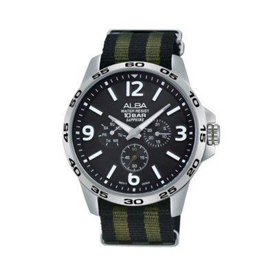 可議價「1958鐘錶城」ALBA雅柏 ACTIVE 男 三眼計時 石英腕錶(AT3595X1) 44mm 新北市