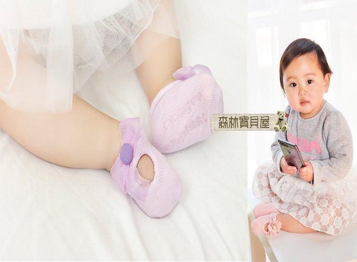 森林寶貝屋~韓款~3雙裝~寶寶蕾絲蝴蝶結透氣襪~嬰兒襪~鏤空洞洞船襪~地板襪~底部止滑~彌月送禮~1袋3裝~5種顏色發售