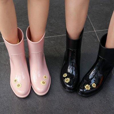 雨靴女成人韓國時尚雨鞋可愛中筒水鞋防滑水靴潮  全館免運