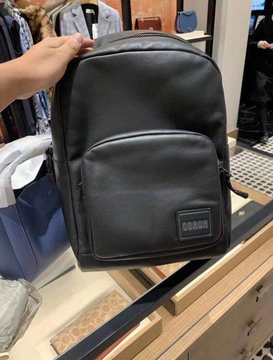小皮美國正品代購 COACH 78828 新款男士Pacer後背包 全素面logo貼飾雙肩包 休閒時尚 附購證