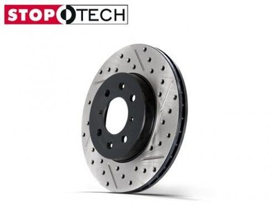 【Power Parts】STOPTECH Sport Rotors 劃線打洞碟盤(前) HONDA CR-V 2代 2