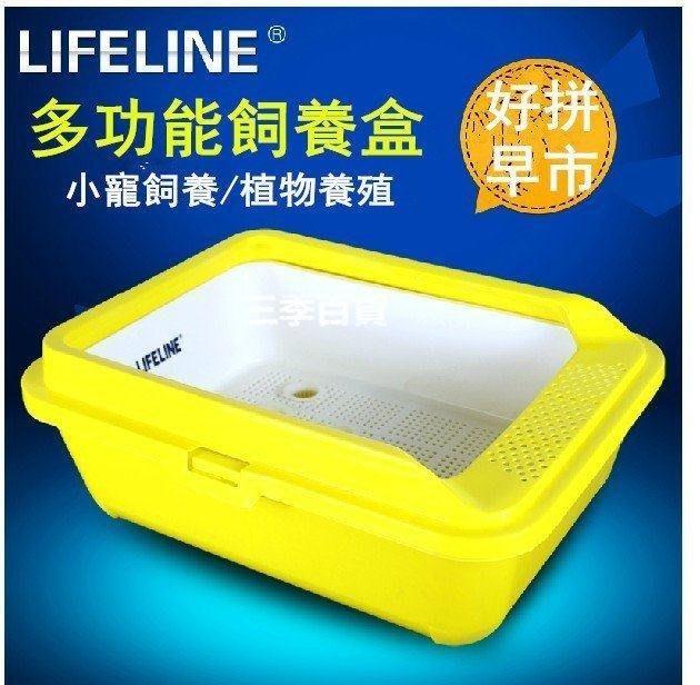 三季水龜半水龜缸烏龜缸陸龜爬蟲塑料飼養箱養龜盆龜苗箱飼養盒❖587