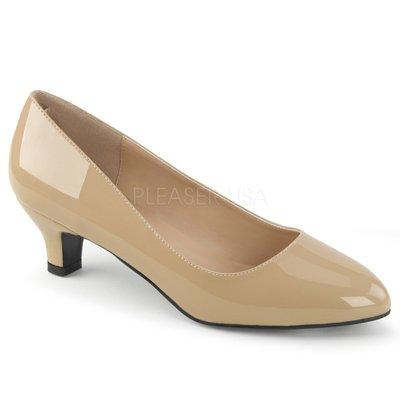 Shoes InStyle《二吋》美國品牌 PINK LABEL 原廠正品漆皮低跟包鞋 有大尺碼 9-16碼『駝色』