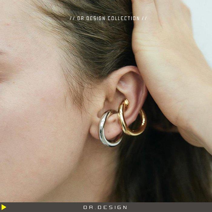 10/27新品►DR.DESIGN│DR31722-歐美潮流 兩用 復古時尚 圈圈 無耳洞耳夾 耳掛
