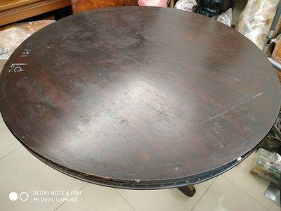 台灣檜木圓桌板、直徑121公分、無拼接一整塊(黃檜、紅檜、原木)