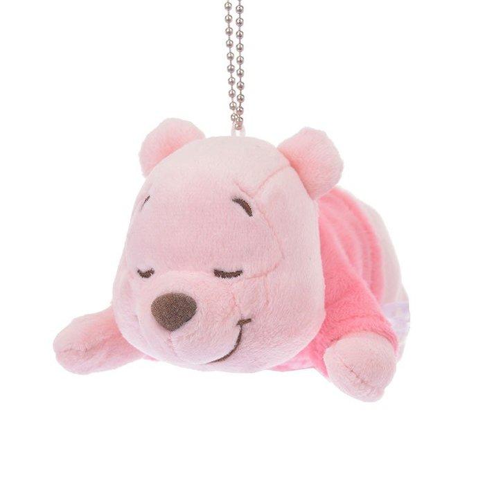 (現貨在台)日本正品Disney迪士尼 睡覺趴姿 玩偶 絨毛 娃娃公仔 擺設 掛飾 櫻花 粉色 小熊維尼 珠鍊吊飾