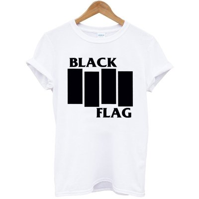 BLACK FLAG-Logo短袖T恤-3色 黑旗樂團搖滾金屬龐克美國進口PUNK ROCK CHAOS 390