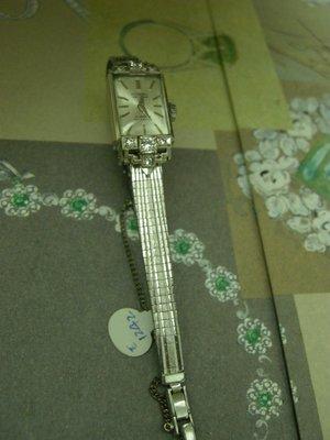 NOBEL  DE LUXE 瑞士製女粧/ 14白K金古典原鑲珍藏鑽錶 01/21已交誼