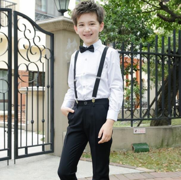 莎芭 男童套裝 兒童花童禮服套裝 主持人花童背帶褲 男童表演鋼琴大合唱演出服裝 100-180cm