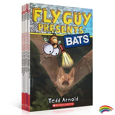 預售英文原版13冊Fly Guy Presents蒼蠅小子百科認知系列圖書兒童自然科普繪本趣味英語閱讀啟蒙動物常識學習書FlyGuy青少年小說