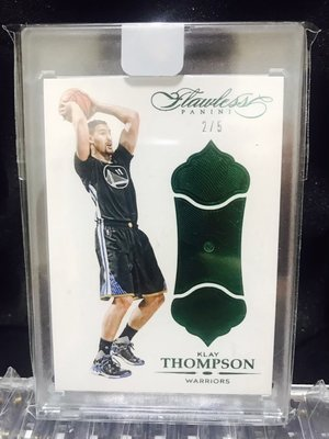 2015-16 Flawless Klay Thompson Diamond /5 鑽石卡