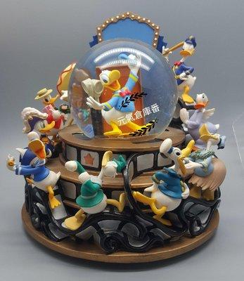 [售完]  巨大水晶球 迪士尼 Disney 水晶球 雪花球 音樂球 唐老鴨 復古風格 老品古董 (可發音樂)