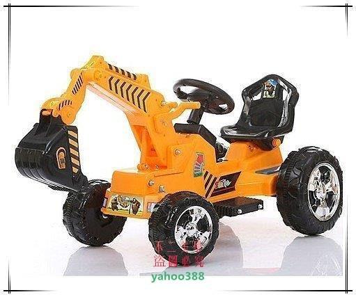 美學194兒童電動車挖掘機【雙車頭一車兩用】大型電動可坐兒童挖掘機挖土機鏟❖85129