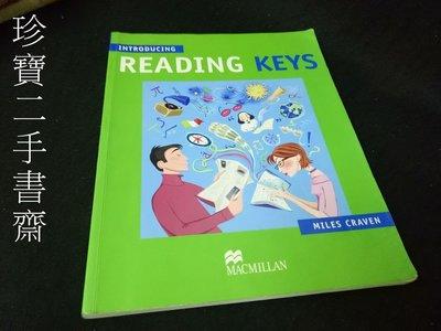 【珍寶二手書TV1】《Introducing Reading Keys》ISBN:0333974565│無光碟有筆畫記