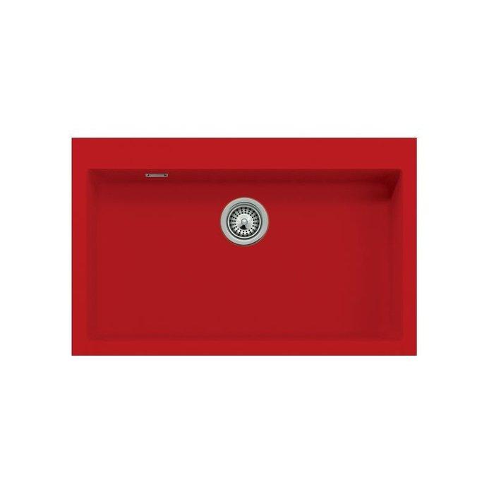 【路德廚衛】德國原裝進口SCHOCK花崗岩水槽R79-81紅色