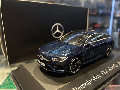 吉華科技@原廠 B66960475 Mercedes-Benz CLA Shooting Brake 藍色 1/43