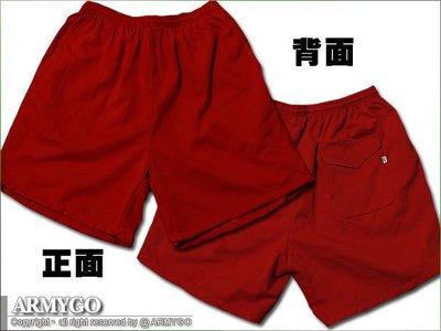 【ARMYGO】國軍紅短褲 (三口袋)
