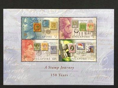 2004.08.28 #新加坡 #郵票之旅發行150週年 小型張 1全105元
