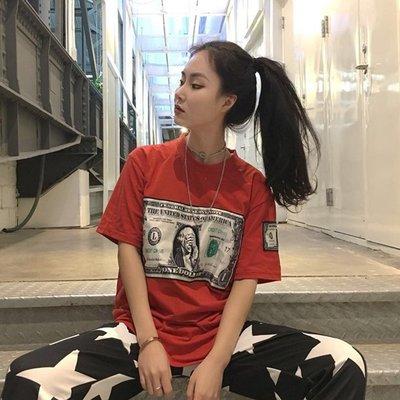 2018春夏季新款韓版情侶上衣半袖體恤寬松bf短袖T恤學生男女潮