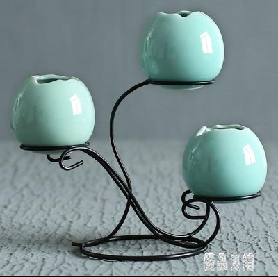 創意擺件手工個性時尚小花器 家居裝飾品水培花插花瓶CY1933【優品