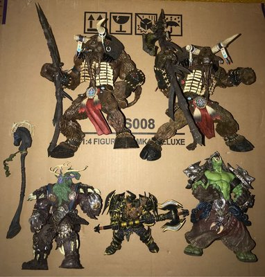 World of Warcraft Spawn McFarlane The Lord of The Ring 魔獸世界 再生俠 魔戒 Figure 共5隻