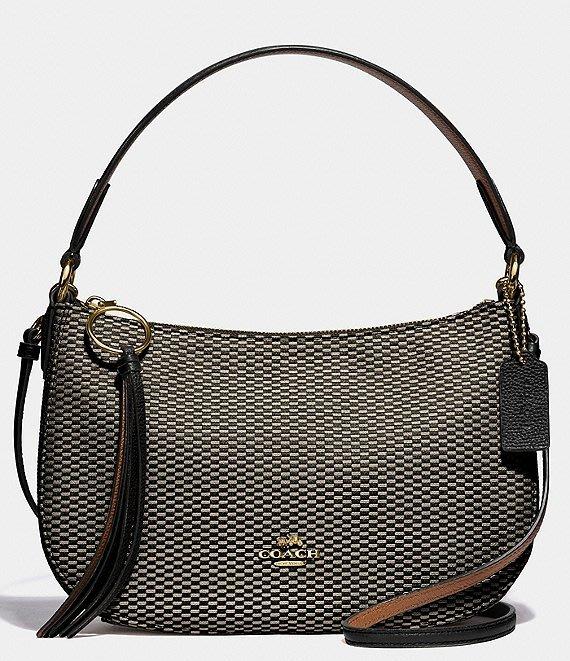 美國名牌 COACH 67367 Sutton Crossbody專櫃款傳統提花側肩/斜背包現貨在美特價$4280含郵