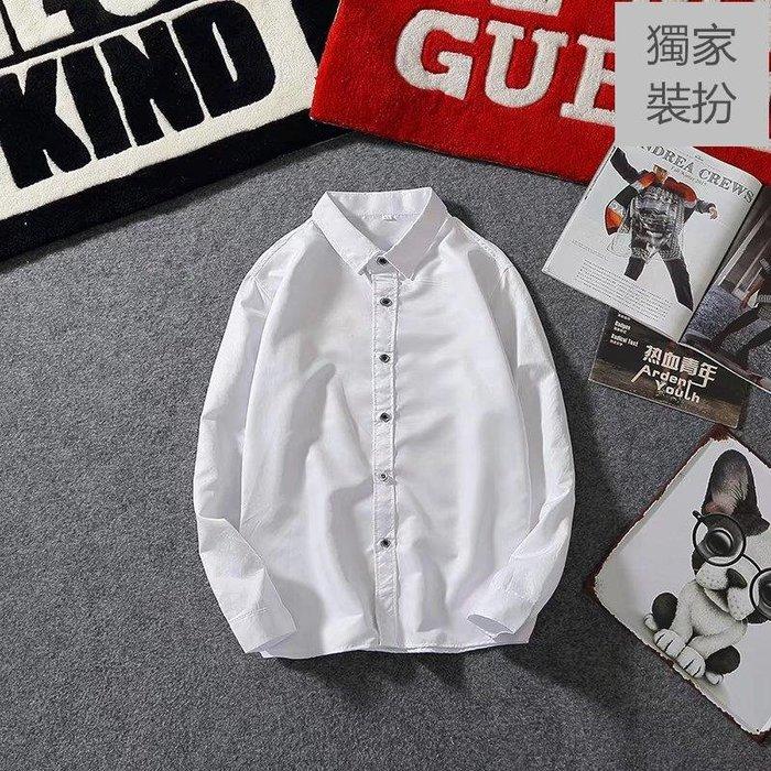 薄開衫 長袖 襯衫 秋季新款 白襯衫男長袖修身 青少韓版休閑學生潮流帥氣打底內搭男士襯衣