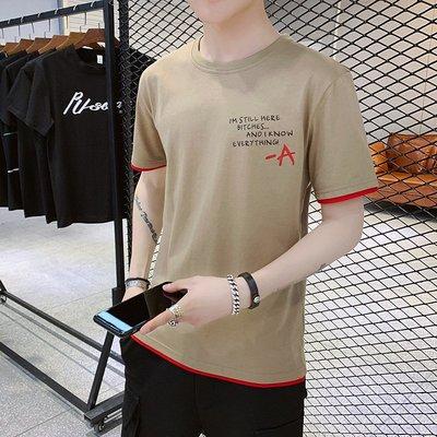 時尚男裝t恤男短袖夏季2019新款韓版潮流半袖衣服男士短袖體恤打底衫男裝