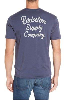 全新 Brixton thrift 短tee washed navy 復古 騎士 滑板 洗舊深藍 現貨L