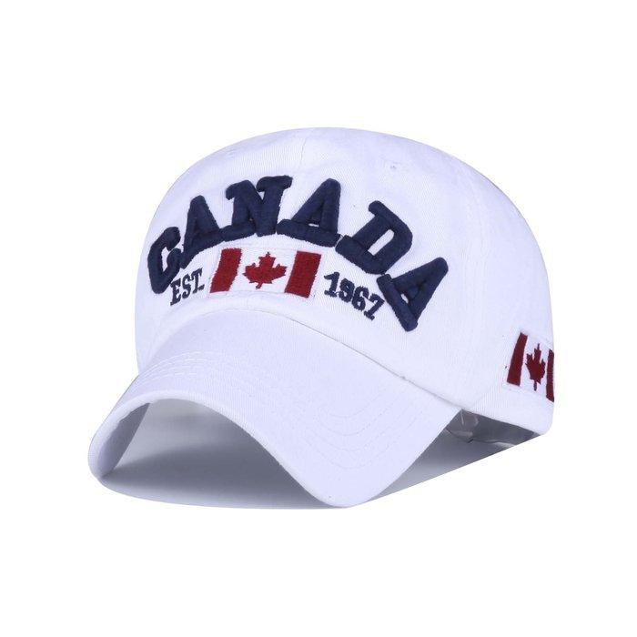 FIND 韓國品牌棒球帽 男女情侶 時尚街頭潮流 CANADA加拿大字母刺繡 帽子 太陽帽 鴨舌帽 棒球帽