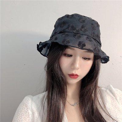 漁夫帽 盆帽-薄款蕾絲繡花鏤空女帽子2色73xu28[獨家進口][米蘭精品]