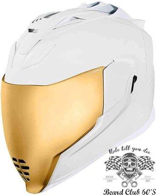 ♛大鬍子俱樂部♛ Icon® Airflite Peace Keeper 美國 原裝 復古 街頭 全罩 安全帽 純白