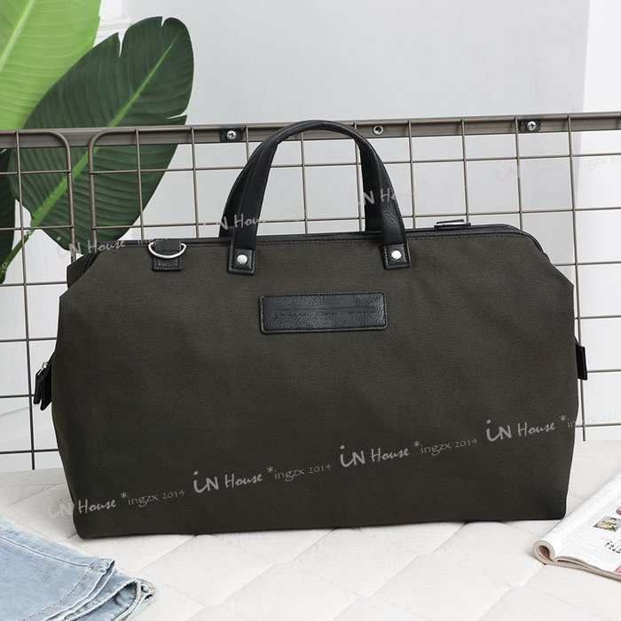 IN House*🇹🇼現貨 超值 travel bag 歐美帆布袋大容量男女簡約手提包短途出差旅行袋休閒行李包運動包